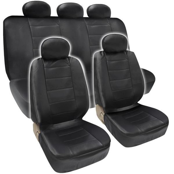 BDK Premium Faux Leather Full Set Car Seat Covers