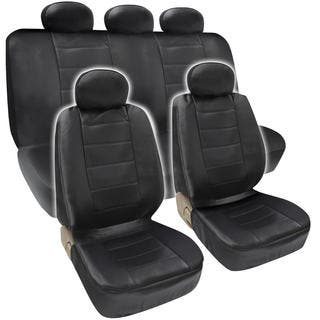 BDK Premium Faux Leather Full Set Car Seat Covers