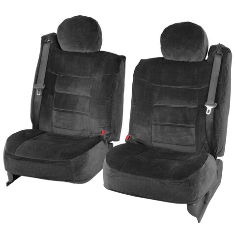 BDK 4-piece Encore Fabric Front Truck Seat Covers - Black (As Is Item)
