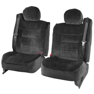 BDK 4-piece Encore Fabric Front Truck Seat Covers - Black