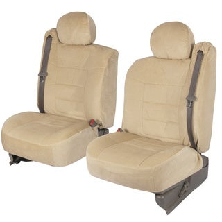 BDK 4-piece Encore Fabric Front Truck Seat Covers - Beige