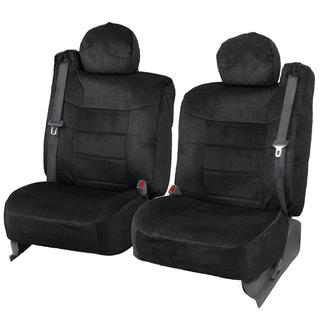 BDK 4-piece Scottsdale Fabric Front Truck Seat Covers - Black