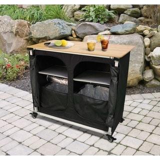 Jordan Manufacturing Bamboo-top Portable Bar - Free ... on Portable Backyard Bar id=95881