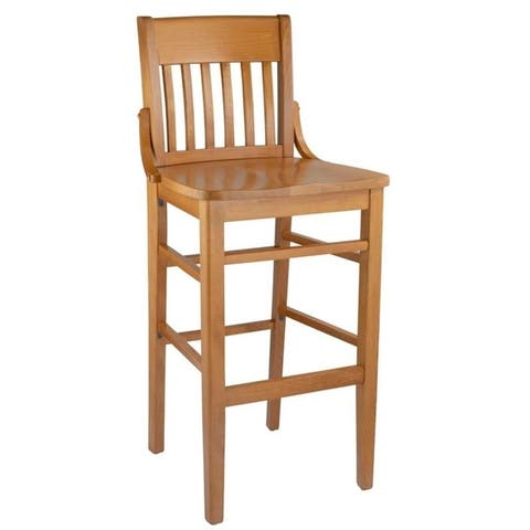 Beech Wood Library Bar Stool