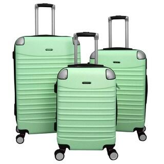 World Traveler Thrills 3-piece Hardside Spinner Luggage Set With Combination Lock