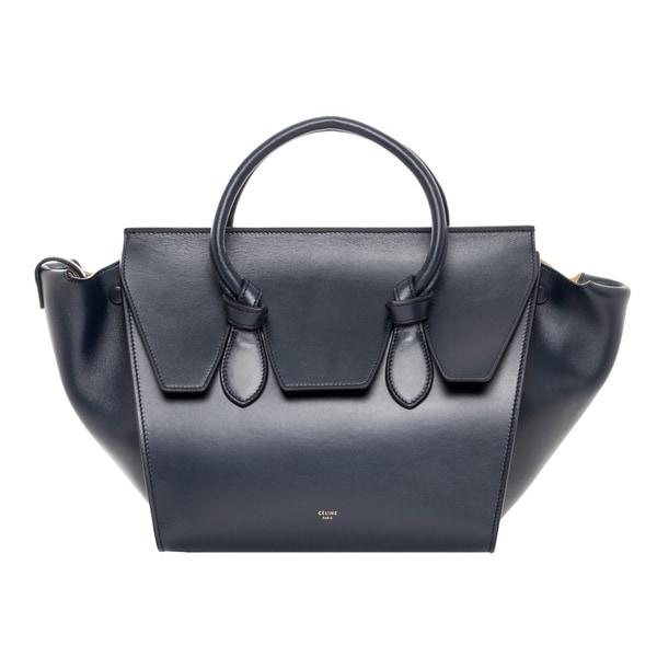 Celine Navy Mini Leather Tie Bag