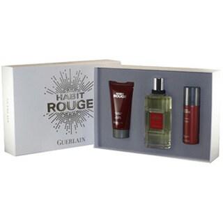 Guerlain Habit Rouge Men's 3-piece Fragrance Set