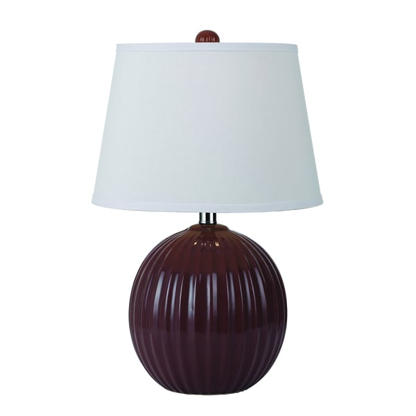 angelo:HOME Red Bleeker Park Ceramic Accent Lamp