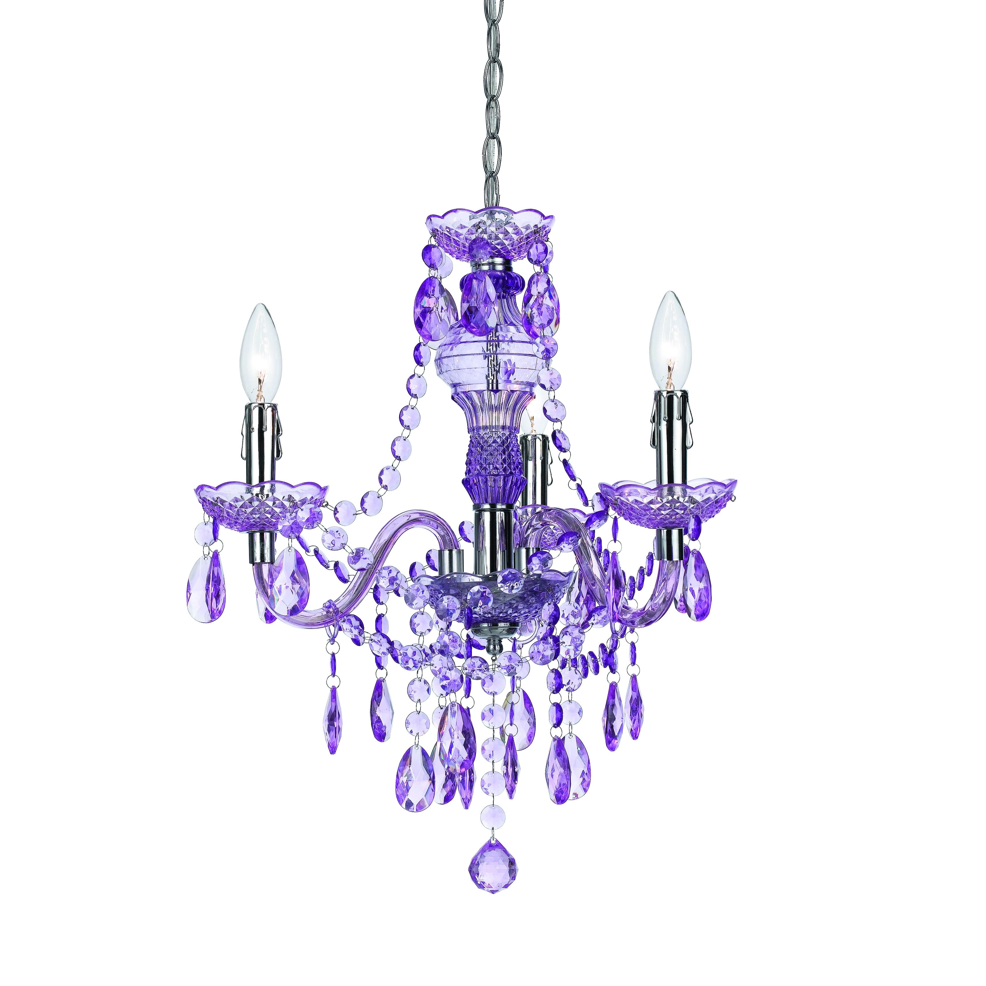 Af Lighting angelo:Home Purple Faux Crystal 3-light/ 5-li...