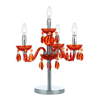 angelo:HOME Orange Faux Crystal Candelabra Table Lamp