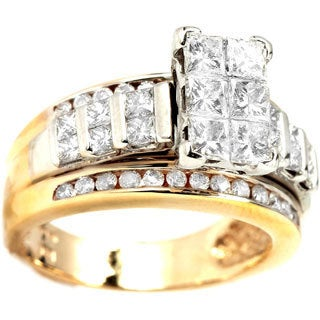 14k Two-tone Gold 2ct TDW Diamond Engagement Ring (I-J, I1-I2)