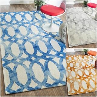 nuLOOM Handmade Modern Wool Geometric Rug (5' x 8')