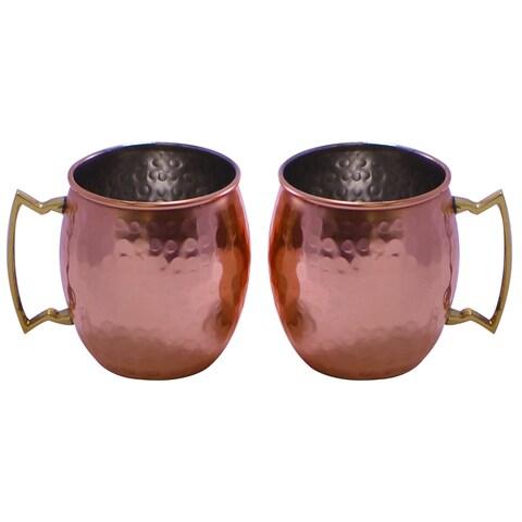 Handmade Hammered Copper Mugs (India)