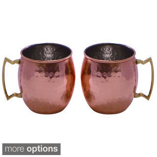 Handmade Hammered Copper Mugs (India)