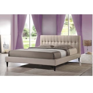 Baxton Studio Lily Modern Button Tufted Platform Bed