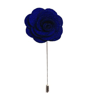 Men's Lapel Handmade Flower Pin (Option: Navy)