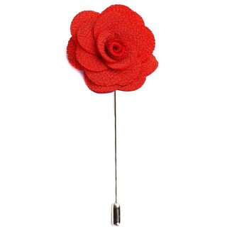 Men's Lapel Handmade Flower Pin