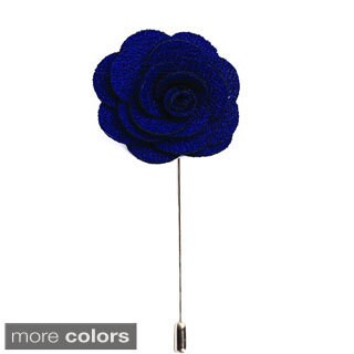 Men's Lapel Handmade Flower Pin (2 options available)