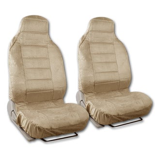 BDK Universal Fit 2-piece Scottsdale Fabric High Back Bucket Seat Deluxe Front Car Seat Covers (Option: Beige)