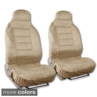 BDK Universal Fit 2 Piece Scottsdale Fabric High Back Bucket Seat Deluxe Front Car