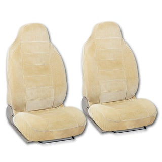 BDK Universal Fit 2-piece Encore Fabric High Back Bucket Seat Deluxe Front Car Seat Covers (Option: Beige)