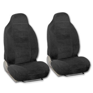 BDK Universal Fit 2-piece Encore Fabric High Back Bucket Seat Deluxe Front Car Seat Covers (4 options available)