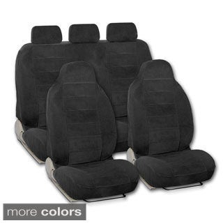BDK Universal Fit 9-piece Full Set Encore Fabric High Back Bucket Seat Deluxe Car Seat Covers