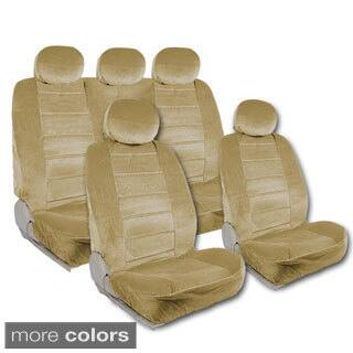 BDK Universal Fit 9 Piece Full Set Regal Fabric High Back Bucket Seat Deluxe Car