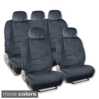 BDK Universal Fit 9-piece Full Set Scottsdale Fabric Low Back Deluxe Car Seat Covers (3 options available)