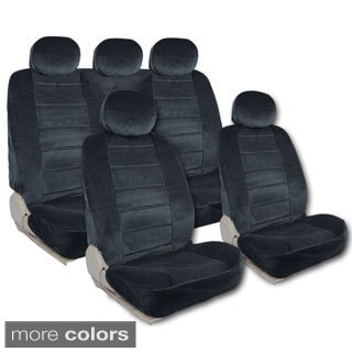 BDK Universal Fit 9-piece Full Set Regal Fabric Low Back Deluxe Car Seat Covers