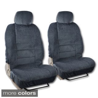 BDK Universal Fit 4 Piece Scottsdale Fabric Low Back Deluxe Front Car Seat Covers