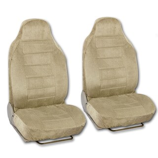 BDK Universal Fit 4-piece Regal Fabric High Back Bucket Seat Deluxe Front Car Seat Covers (Option: Beige)