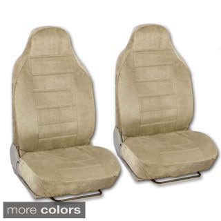 BDK Universal Fit 4-piece Regal Fabric High Back Bucket Seat Deluxe Front Car Seat Covers