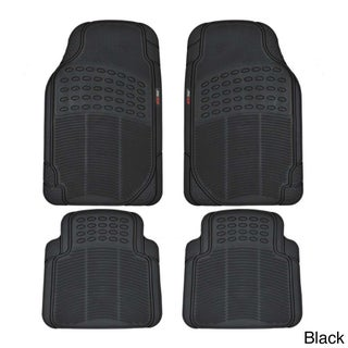 Motor Trend Rubber Odorless BPA-free Car Mats (Set of 4)