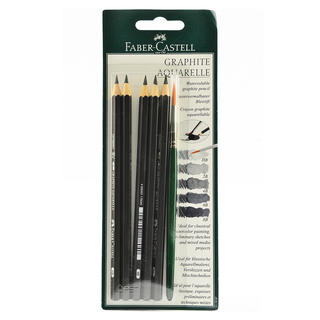 Faber-Castell Graphite Aquarelle Water-soluble Pencils