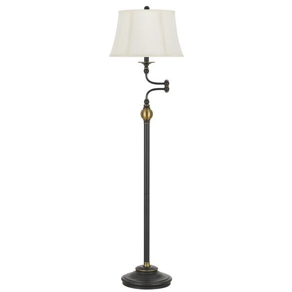 Cal Lighting Ellenton Two Tone Swing Arm Floor Lamp