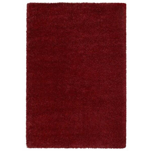 Loft Luxury Urban Shag Garnet Red Polypropylene Rug - 5'3 x 7'4