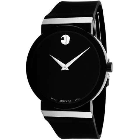 Movado Men's 0606780 'Sapphire Synergy' Black Silicone Rubber Watch