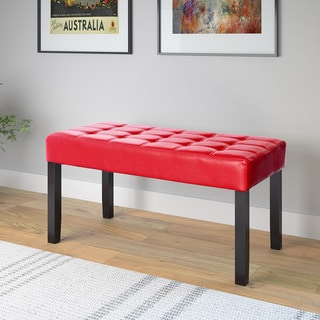 CorLiving California 24-panel Bench in Leatherette