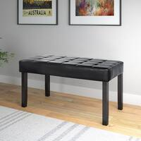 Clay Alder Home Wallace 24-panel Bench in Leatherette