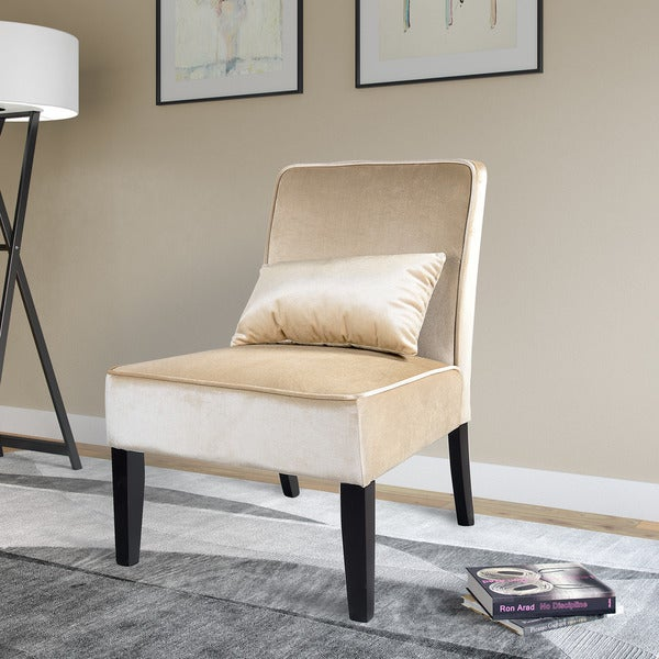 Silver Orchid Russon Lounge Chair In Soft Cream Velvet