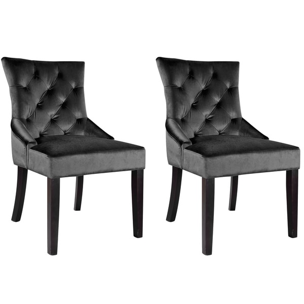 corliving antonio velvet accent chair set of 2 free shipping today