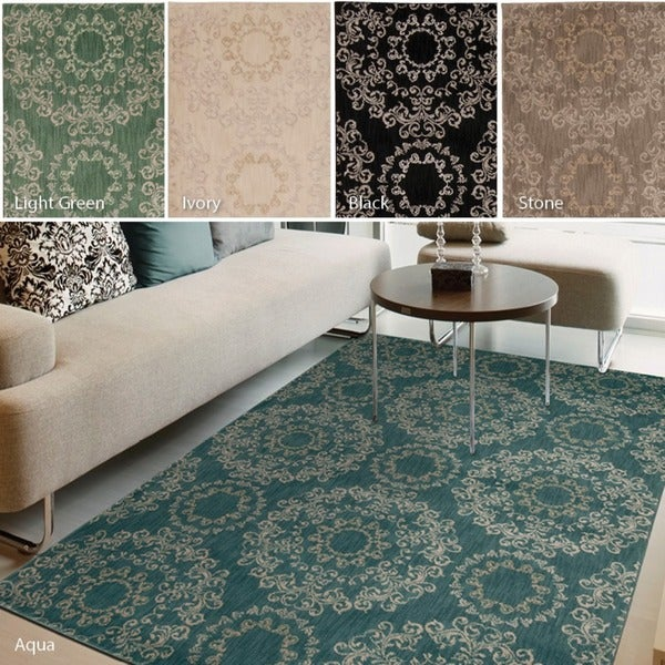 Nourison Tranquility Geometric Area Rug (9'3 x 12'9)