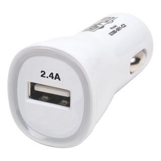 Tripp Lite USB Tablet Phone Car Charger High Power Adapter 5V / 2.4A