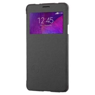 Insten Folio Flip Leather Phone Case with Half-window for Samsung Galaxy Note 4
