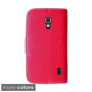 INSTEN Premium Folio Flip Leather Stand Wallet Phone Case Cover For LG Optimus F6
