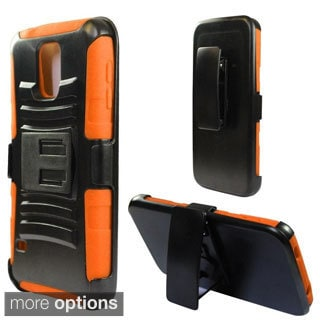 INSTEN Dual Layer Hybrid Rubberized Hard Plastic PC/ Silicone Holster Phone Case Cover For Samsung Galaxy S5 SM-G900