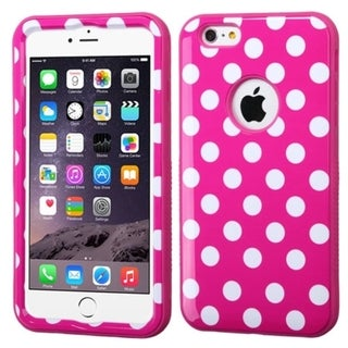 INSTEN Wave Dual Layer Hybrid Rubberized Hard Plastic PC/ Silicone Phone Case Cover For Apple iPhone 6 Plus