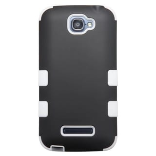 INSTEN Dual Layer Hybrid Rubberized Hard Plastic PC/ Silicone Phone Case Cover For Alcatel One Touch Fierce 2 7040T