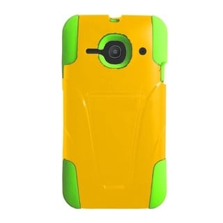 INSTEN Dual Layer Hybrid Stand Rubberized Hard Plastic PC/ Silicone Phone Case Cover For Alcatel One Touch Evolve 2